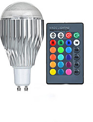 GU10 85V-265V 600-800Lm 10W RGB Remote Control LED Colorful Bulbs