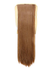 Flaxen Length 60CM Synthetic Bind Type Long Straight Hair Wig Horsetail(Color 27)