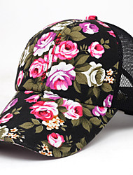 Women's Korean Style Floral Pattern Sport Outdoor Baseball Cap