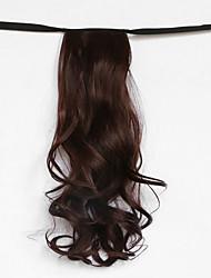 Wasserwelle kastanienbraun synthetischen Verband Typ Haar Perücke Pferdeschwanz (Farbe 33)