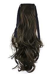 Black Length 50CM Factory Direct Sale Bind Type Curl Horsetail Hair Ponytail(Color 8A)
