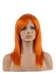 Natural Middle Length Brown Color Popular Synthetic Wig For Woman