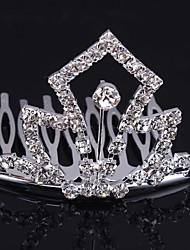 Fashion Bride Headwear Headdress Crown With Rhinestone Styl