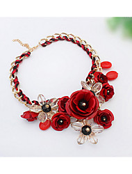 Early Summer Small Pure And Fresh Flower Necklace Collarbone Chain Han Edition Of Pop