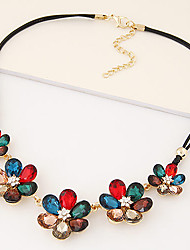 Necklace Statement Necklaces Jewelry Party / Daily / Casual Fashion Dark Blue / Red / Gray 1pc Gift