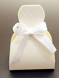 12pcs wedding favor box - Card Paper Favor Boxes Bride Wedding Dress Marriage Décor Non-personalised