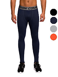 Vansydical Men's Quick Dry Fitness Bottoms Gray / Black / Orange / Royal Blue