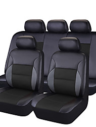 Pvc Leather  Universal Car Seat Covers Full Set Seat Covers