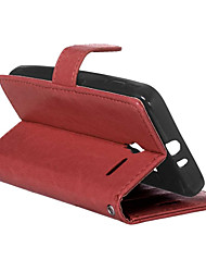 For Alcatel Case with Stand / Flip Case Full Body Case Solid Color Hard PU Leather Alcatel