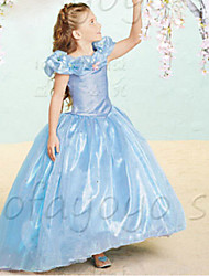 Girl's Summer Cinderella  Princess Sheer Sleeveless  Dresses (Cotton Blends)