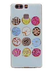 matériau tpu motif de couleur étui de téléphone souple pour huawei p9 / p9 Lite