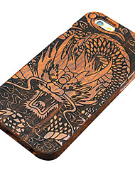 For iPhone 6 Case / iPhone 6 Plus Case Pattern / Embossed Case Back Cover Case Wood Grain Hard Wooden for iPhone 6s Plus/6 Plus / iPhone