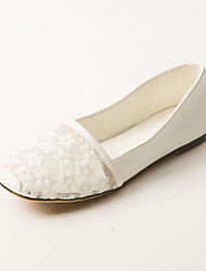 Women's Shoes Flat Heel Comfort / Square Toe Flats Dress / Casual Black / Pink / White