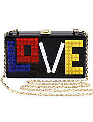 L.WEST Women's Acrylic LOVE Evening Bag