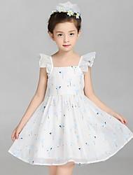 Vestido Chica de-Verano-Algodón / Lino-Rosa / Blanco