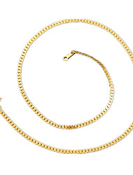 Necklace Chain Necklaces Jewelry Wedding / Party / Daily / Casual / Sports Stainless Steel / Alloy / Silver Plated / Gold PlatedGold /