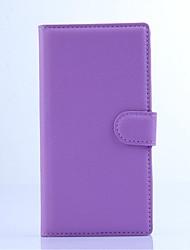 capa protetora em relevo couro pu titular do telefone de couro cartão da carteira para o Sony Xperia m2