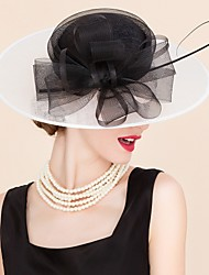 Women's Tulle / Flax Headpiece-Wedding / Special Occasion / Casual Hats 1 Piece