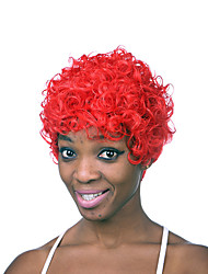 Fashionable Red Color Short Length Top Quality Synthetic Wigs