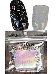1pcs 100 * 4cm transparente a laser unha arte brilho adesivos diy bela estrela de flor geométrico imagem Prego beleza lt13-16