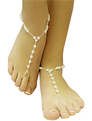 Women's Girls´ Anklet/Bracelet Pearl Unique Design Fashion Simple Style Jewelry White Women's Jewelry Wedding Party 1pc