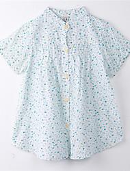 Tee-shirts Fille de Imprimé Coton Eté Bleu