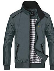 Men's Long Sleeve Jacket,Cotton Casual Plaids