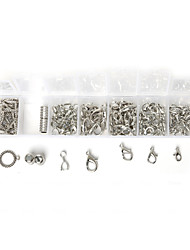 Beadia 1 Pcs Fashion Jewelry Findings Rhodium Plated Lobster Clasps & Lobster Clasps & Bails (Approx 100Pcs)