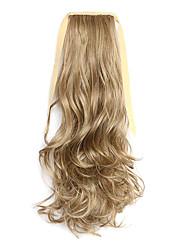 comprimento 50 centímetros marrom peruca de cabelo tipo de cinto cavalinha melange encaracolado sintético (cor 10/86)