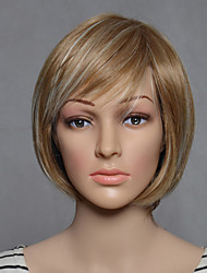Capless Blonde Short Length High Quality Natural Straight Synthetic Wig