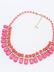Women's Pendant Necklaces Resin Alloy Fashion Rose Jewelry Wedding Party Daily Casual 1pc