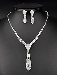 Conjunto de jóias Strass Strass Mulheres