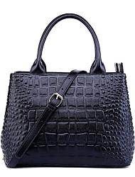 Neverout Top Grade Cowhide Women Fashion Hangbag Sling Bag Crocodile Grain  Lady Tote Shoulder Bag