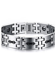 Magnetic Therapy BraceletMen's Jewelry Health Care Silver Titanium Steel Bracelet
