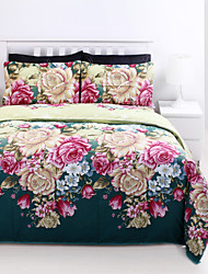 Duvet Cover Set,4 Piece Suit 5D Oil Painting Bedding Sets Cotton Printed Bedclothes Bed Linens Sheet Sets