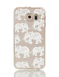 Para Samsung Galaxy S7 Edge Transparente / Estampada Capinha Capa Traseira Capinha Elefante Macia TPU S7 edge / S7 / S6 edge / S6