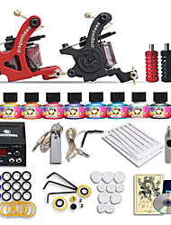 Dragonhawk® Beginner tattoo starter kits 2 machines 10 SetImmortal Tattoo Inks tattoo kit professional