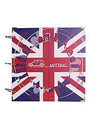 DIY 29 * 29 cm de álbuns de 16 polegadas artesanal recados foto 30pcs papel preto - Inglaterra para a família / baby / amantes / presentes