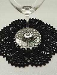 COASTER(Noir,Bambou)Forme ronde