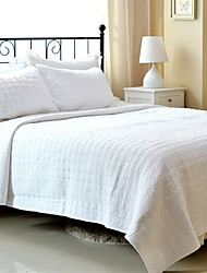 "3PC Quilt Sets Full Cotton Pure White Jacquard 92""W*106""L"