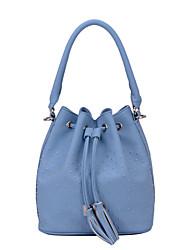 DAVIDJONES/Women PU Bucket Shoulder Bag / Tote-Multi-color