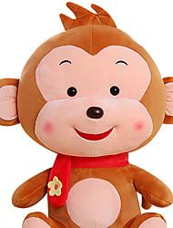 Fubao mono mono mascota del zodiaco del mono de marionetas muñeca juguetes de peluche de seguridad de 30 cm de color caqui