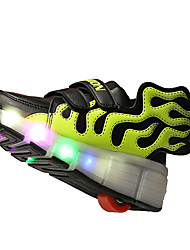 Boy's / Girl's Spring / Summer / Fall / Winter Roller Skate Shoes / Comfort Tulle Casual Flat Heel Hook & Loop / Slip-onBlack / Blue /