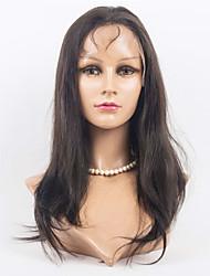 Femme Perruque Naturelles Dentelle Cheveux humains Lace Front 130% Densité Raide Perruque Noir Auburn Auburn foncé Noir / Medium Auburn