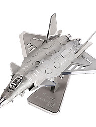 Jigsaw Puzzles 3D Puzzles / Metal Puzzles Building Blocks DIY Toys Aircraft Metal Silver Model & Building Toy