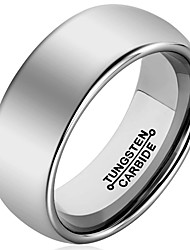 Band Rings Tungsten Steel Fashion Vintage Silver Jewelry Wedding Party Daily Casual 1pc