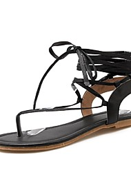 Women's Shoes Low Heel Gladiator / Ankle Strap Sandals Outdoor / Dress / Casual Black / Red / Beige