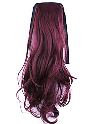 Golden Length 50CM Factory Direct Sale Bind Type Curl Horsetail Hair Ponytail(Color BUG)