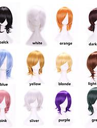vendita calda nuova parrucca cosplay elegante harajuku anime termoresistente giovani colori brevi parrucca di capelli sintetici per anime