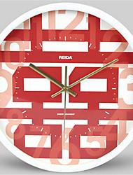 Kreisförmig Modern/Zeitgenössisch Wanduhr,Anderen Metall 30*30*4